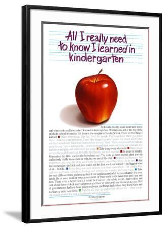 All I Really Need to Know-Kindergarten