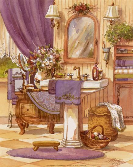 Victorian Bathroom II Art by Jerianne Van Dijk at ...