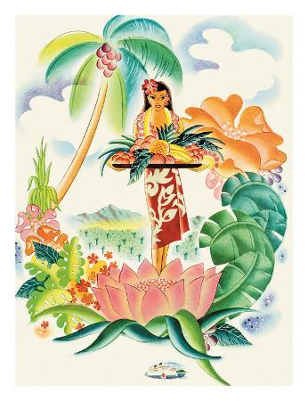 Matson Lines to Hawaii, Tropical Abundance c.1930s