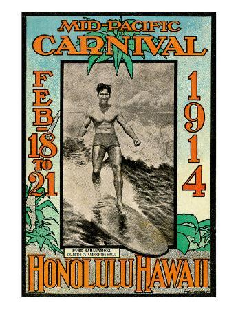 Mid Pacific Carnival 1914, Honolulu, Hawaii, Featuring Duke Kahanamoku