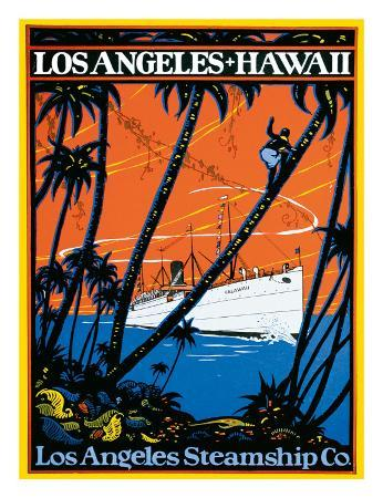 Los Angeles-Hawaii, Los Angeles Steamship Company, c.1920s
