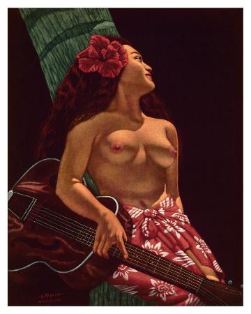 Island Girl with Guitar, Hawaii