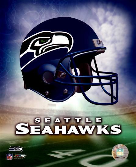 'Seattle Seahawks Helmet Logo' Photo   AllPosters.com