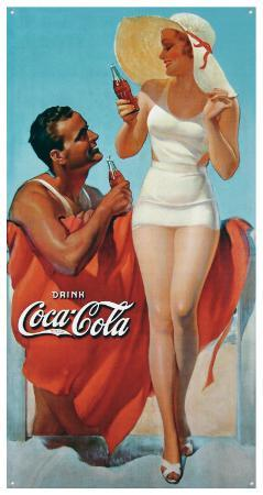 Coke Man & Woman Beach