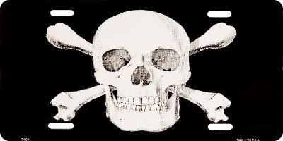 Skull & Crossbones License Plate