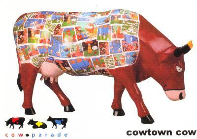 Cow Parade - Cowtown Cow