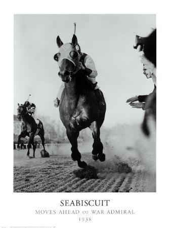 Seabiscuit Moves Ahead of War Admiral, 1938