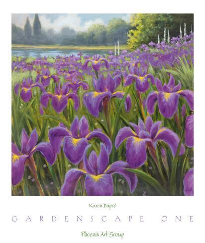 FLORAL ART PRINT Living Color I Karen Dupre