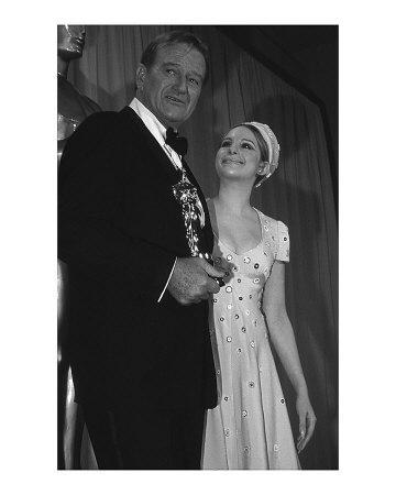 John Wayne and Barbara Streisand