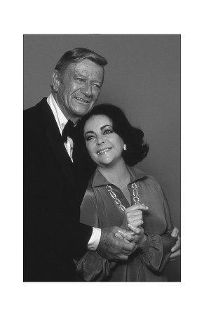 John Wayne and Elizabeth Taylor