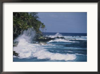 A coastal view of the southeast corner of Hawaii