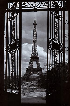Eiffel Tower Through Gates
