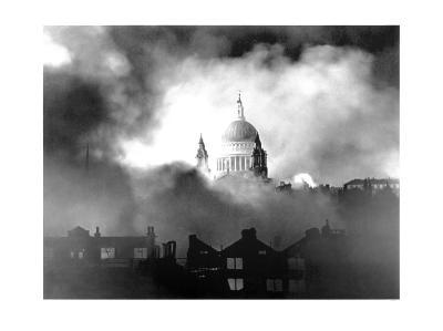 St. Paul's Cathedral During London Blitz, 1940