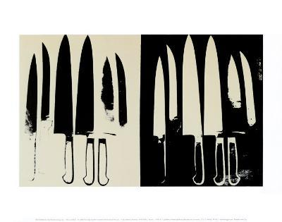 Knives, c.1982 (Cream and Black)