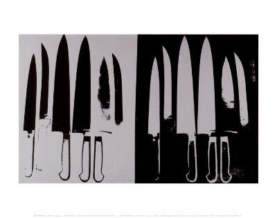 Knives, c.1982 (Silver and Black)