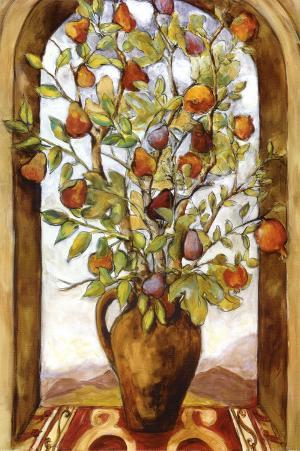 Bouquet of Figs, Pears and Pomegranates