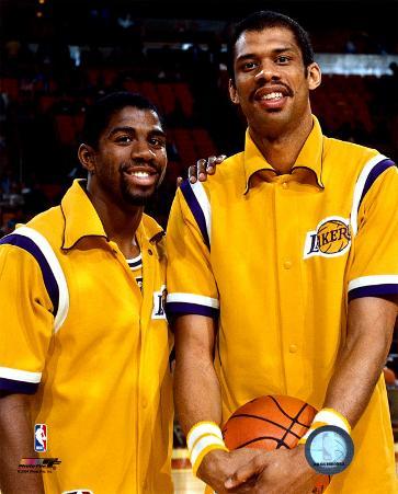 Magic Johnson & Kareem Abdul - Jabbar