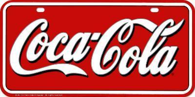Coca- Cola License Plate