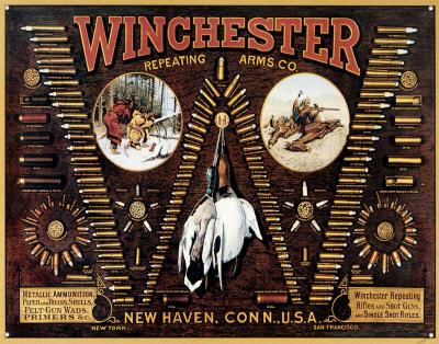 Winchester with Bullet Board