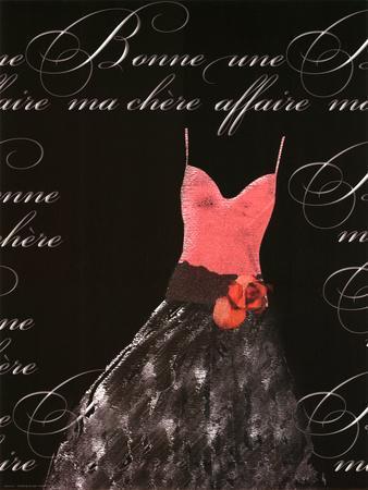 Robe de Soiree Rose avec le Corsage