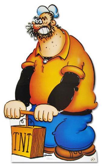 Brutus Popeye Cartoon Lifesize Standup Cardboard Cutouts