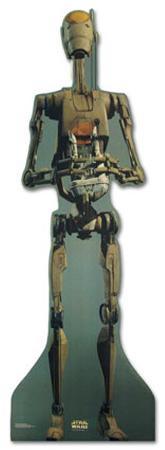 Talking Commander Battle Droid Star Wars Movie Lifesize Standup Poster