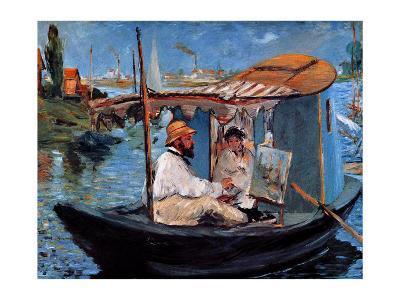 Monet Floating in His Studio
