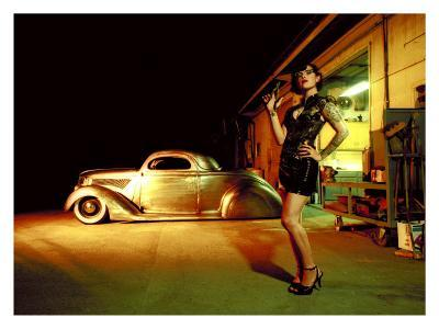 Pin-Up Girl: 1937 Coupe Tattoo and Leather