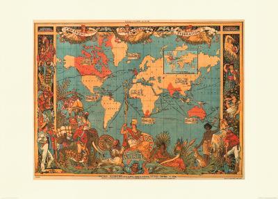British Empire Map, 1886