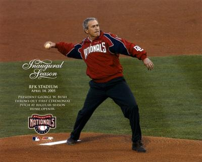 4/14/05 - President Bush / 1st Pitch At RFK Stadium