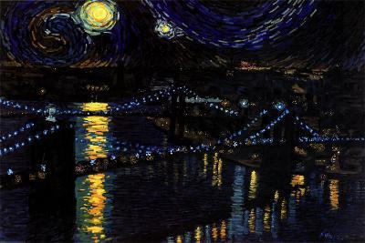 Starry Night over the Brooklyn Bridge