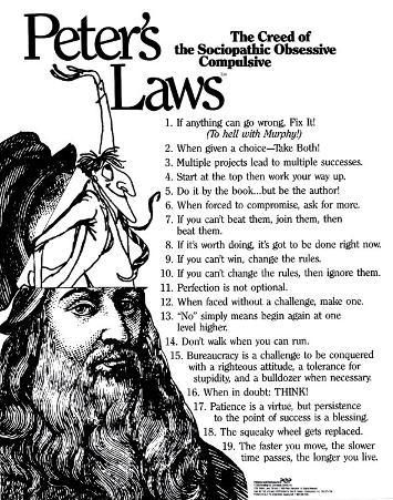Peter's Laws