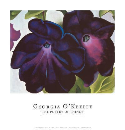 Black and Purple Petunia, 1925
