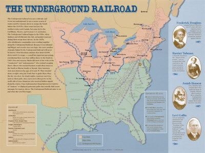 The Underground Railroad Map Prints at AllPosters.com