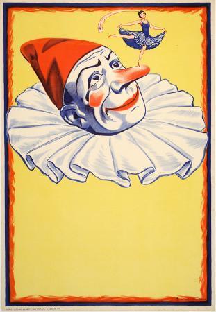 Clown on Yellow Background (c.1930)