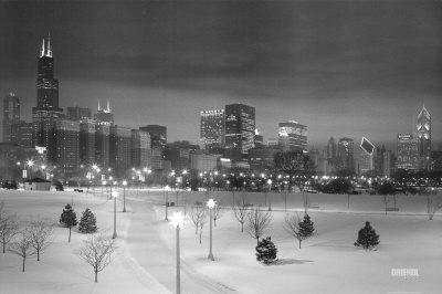 Chicago - Skyline in Snow