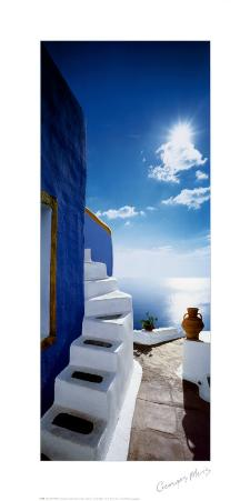 Blue Wall, White Steps
