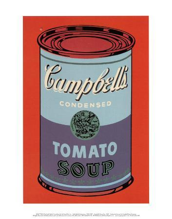 Campbell's Soup Can, 1965 (Blue and Purple)