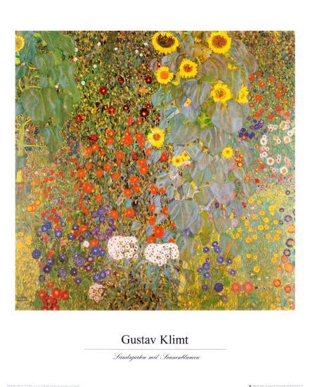 Country Garden With Sunflowers Art By Gustav Klimt At