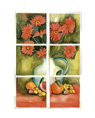 Red Daisies at the Window