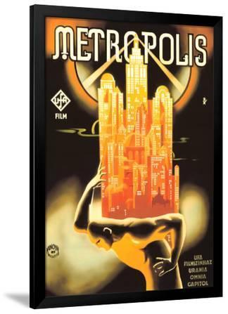 Vintage 1928 Metropolis Movie Poster