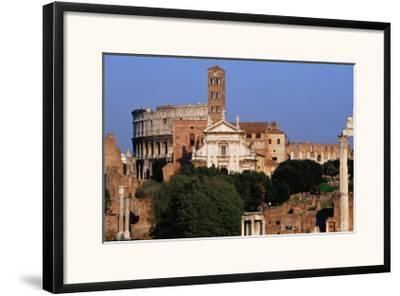 Roman Forum And Colosseum Rome, Italy