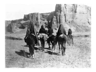 Navajo on Horseback