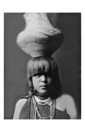 San Ildefonso Girl with Jar