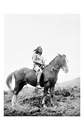 Young Yakima on Horseback