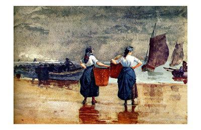 Fisherwomen at Tynemouth Beach