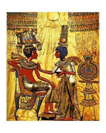 Tutankhamen Annointed by Wife