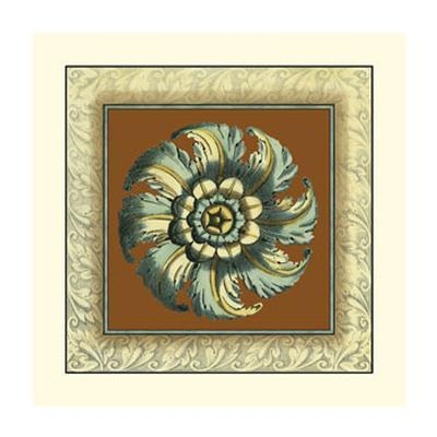 Brown and Blue Rosettes II