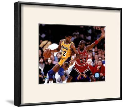 Magic Johnson & Michael Jordan ©Photofile