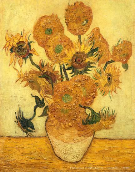 Vase Of Fifteen Sunflowers C1889 Prints By Vincent Van Gogh At